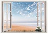 Pencere, Sahil, Kumsal Duvar Sticker