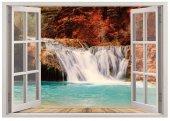 Pencere, Şelale, Göl Duvar Sticker