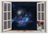 Pencere, Uzay Boşluğu, Yıldızlar Duvar Sticker