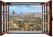 Pencere, Kapadokya, Balonlar Duvar Sticker