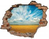 Kırık Tuğla, Bulutlar, Ekin, Hasat Duvar Sticker