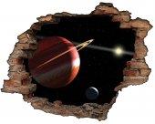 Kırık Tuğla, Gezegenler, Uzay Boşluğu, Yıldızlar Duvar Sticker