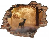 Kırık Tuğla, Geyik, Orman Duvar Sticker