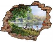 Kırık Tuğla, Ördek, Göl Duvar Sticker