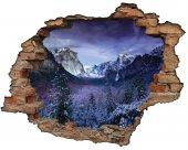 Kırık Tuğla, Dağ Manzarası Duvar Sticker