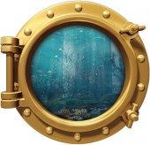 Gemi, Denizaltı, Pencere, Akvaryum, Balık Duvar Sticker