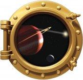 Uzay Gemisi, Gezegen, Uzay Boşluğu Duvar Sticker