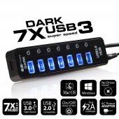 Dark 7 Port Usb 3.0 Hub Ve 1 Port Yüksek Hızlı Şar...