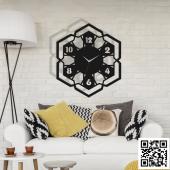TrendBOX Modern Dekoratif Ahşap Duvar Saati  -119