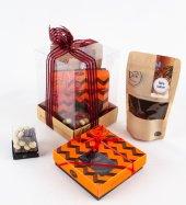 Liva Portakal Kabuk Kahve Draje Çikolata Küp Kutu Serisi