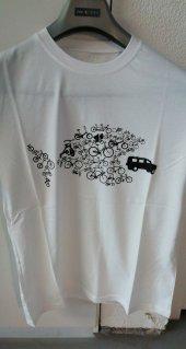 Procycle Balık Baskılı Tişört(Beyaz L...