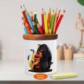 Angry Birds Sevgi Dolu Kuşlar Ahşaplı Seramik Kalemlik Angrybir