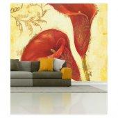 Kırmızı Kadife Çiçeği 178x126 Cm Duvar Resmi...