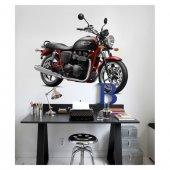 Motorcyle 1 Dev Duvar Sticker