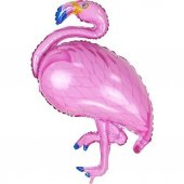Flamingo Folyo Balon Pembe Doğum Günü Balonu
