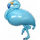 Flamingo Folyo Balon Doğum Günü Balonu Mavi