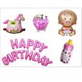 Happy Birthday Set Mutlu Yıllar Set Kız Folyo...