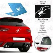 Zehirli Örümcek Beyaz Sticker, Oto, Araba, Araç, Etiket, Aksesuar, Tuning, Modifiye, Arma