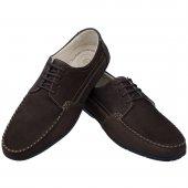 Kahverengi Nubuk Ortopedik Bağcıklı Klasik Erkek Ayakkabı