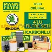 Skoda Octavia 1.6 Tdi Mann Filter Filtre Bakım Set...