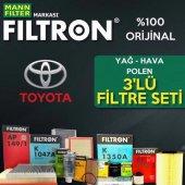 Toyota Auris 1.4 D4d Filtron Filtre Bakım Seti (20...