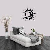 Güneş Ve Ay Dekoratif Duvar Sticker, Çıkartma, Etiket