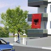 Raşel Kumaş Arnavutluk Bayrak 150x225 Cm (1,5 Metre X 2,25 Metre