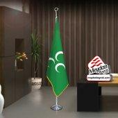 Yeşil Üç Hilal Sancak Bayrak Ofis Makam Toplantı Odaları Direk