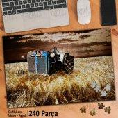 Asil Hobi Terk Edilmiş Paslı Traktör - Tarla -Buğday Yapboz-Ayak Destekli Çerçeveli 240 Parça Puzzle