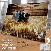 Asil Hobi Terk Edilmiş Paslı Traktör - Tarla -Buğday Yapboz-Ayak Destekli Çerçeveli 240 Parça Puzzle-2