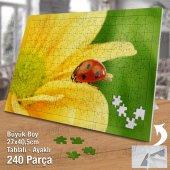 Asil Hobi Uğur Böceği - Doğa - Sarı Çiçek Yapboz-Ayak Destekli Çerçeveli 240 Parça Puzzle-2