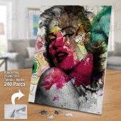 Marilyn Monroe Yapboz -Ayak Destekli Çerçeveli 240 Parça Puzzle M852-2