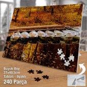 Asil Hobi Sararmış Yapraklar - Kayık - Göl Kenarı Yapboz - Ayak Destekli Çerçeveli 240 Parça Puzzle-2