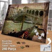 Asil Hobi Venedik - Retro - Gondol - Büyük Kanal Yapboz -Ayak Destekli Çerçeveli 240 Parça Puzzle-2