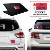 81 Düzce - Memleket Sticker - Şehir - Arma, Cam, Laptop Etiket Oto Sticker -Araç Akesuar 19x9cm