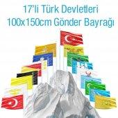 17 Eski Türk Devletleri Bayrakları Set 100x150 Cm Raşhel Kumaş