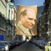 Mustafa Kemal Atatürk Portre Cephe Poster Bayrak 400x600cm 4x6