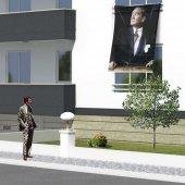 Göğe Bakan Mustafa Kemal Atatürk Cephe Poster Bayrak 150x225cm