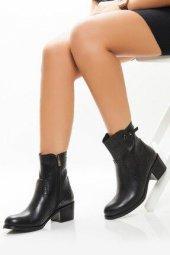 Tarçın Hakiki Deri Günlük Kadın Topuklu Bot Trc101 2190