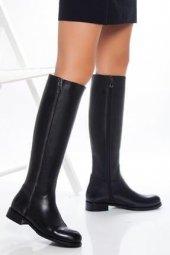 Tarçın Hakiki Deri Günlük Kadın Topuklu Çizme Trc101 2677
