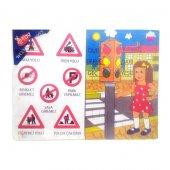 Büyük Boy Çivili Puzzle Trafik İşaretleri Bj 34mgt147
