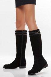 Tarçın Hakiki Deri Günlük Kadın Topuklu Çizme Trc102 1013