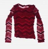 Kırmızı Renkli Kız Çocuk Triko K102
