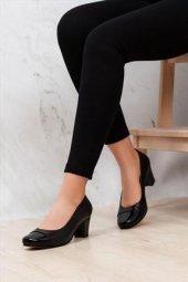 Tarçın Hakiki Deri Klasik Günlük Kadın Topuklu Ayakkabı Trc71 0125