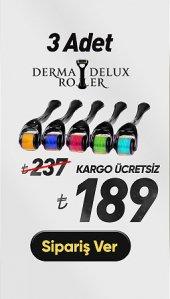 Deluxhair Plus Tinatyum Derma Roller System 540 İğne 0,5 mm 1. Kalite Masaj Aleti RoHs CE Kalite belgeli dermoroller - 3 adet