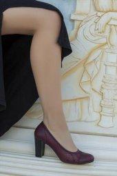 Tarçın Hakiki Deri Klasik Günlük Kadın Topuklu Ayakkabı Trc71 0129