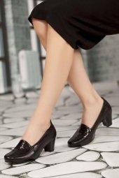 Tarçın Hakiki Deri Klasik Günlük Kadın Topuklu Ayakkabı Trc71 0170