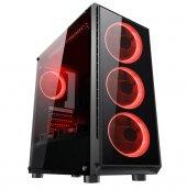 Gaming 400w Psu 4xsingle Color Red Fan 1x3.0...