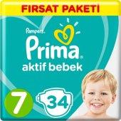 Prima Bebek Bezi Aktif Bebek 7 Beden 34 Adet Xx...