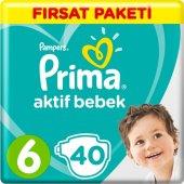 Prima Bebek Bezi Aktif Bebek 6 Beden 40 Adet Ekstra Large Fırsat